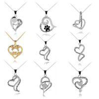 도매 유럽과 미국의 어머니의 날 보석, 나는 당신을 사랑합니다 패션 사랑 다이아몬드 레이디 목걸이, 무료 배송