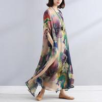 Las nuevas mujeres con estilo sueltas impresas ocasionales del color que mezclan el vestido largo de la camisa expresan el envío