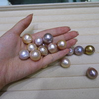 2018 nuove perline fai da te insolito giallo viola barocca Edison naturale grande perla 9-12mm perle sciolte di perla accessori commercio all'ingrosso di trasporto