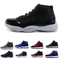11S Balo Gece Basketbol Ayakkabıları 11 Erkek Kadın Kap ve Kıyafeti Spor Salonu Kırmızı Uzay Reçeli Concord Prm Heiress Bred Gama Mavi Spor Sneaker