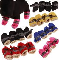أحمر الكلب أحذية الشتاء للماء أحذية كلب كلب للكلاب كبيرة مكافحة زلة جرو الحيوانات الأليفة الأحذية الصغيرة الكلب المطر ثلج الحيوانات الأليفة التمهيد