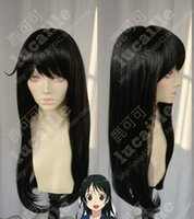Collection Nagato Noir Longs Raides Perruque Cosplay Cheveux
