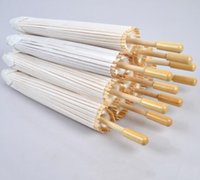 50pcs lot New White Color Long- handle Outdoor Wedding Paper ...