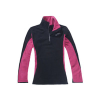 Women Outdoor Climbing Hiking Fleece Jacket Full sleeve half...
