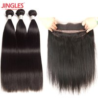 9A Brazilian Human Hair bundles with 360 Lace Frontal cuticl...
