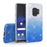 3 in 1 Bling Glitter Farbverlauf Regenbogen TPU PC Fall für Samsung J4 J6 J8 J7 Plus Duo A6 A8 J5 Groß Prime J2 Pro Huawei Y6 Y7 Y9 2018 Mate 10