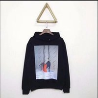 Crane Print Sweatshirts Men Women Hip Hop Heron Preston Hood...