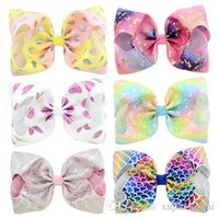 Hot sale 6 Designs JOJO Bow style 8 inch Colorful Big Bowkno...