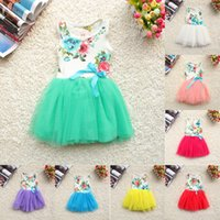 2018 new Girls Baby Kids Toddlers Summer Floral Print dress ...