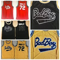 Mens Badboy # 72 Biggie Smalls Jersey Notorious B.I.G. Couts Bad Boy Boy Basketball Jerseys Shirts S-XXL