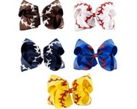 2018 new arrival Large Softball Baseball Lala Bow Handmade Y...