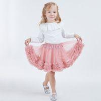 INS Hot Design TUTU Vestido de niña Falda de bebé Vestido de encaje Faldas Mini desgaste de baile Pettiskirt Baile de baile Vestidos de encaje Falda de burbuja