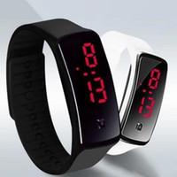 Neue Mode Sport LED Uhren Candy Jelly Männer Frauen Silikon Gummi Touchscreen Digitaluhren Armband Armbanduhr