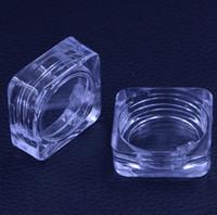 5G Temizle Kare Kozmetik Boş Kavanoz Pot 5 ML Cilt Bakımı Akrilik Göz Farı Makyaj Yüz Kremi Konteyner Ücretsiz Kargo LX3982