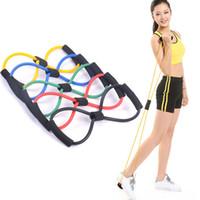 8 Shaped Elastic Rubber laço Tração da corda do esporte de borracha bandas de tensão Chest Harness Expander Banda Yoga Pilates Home Gym de Fitness Belt