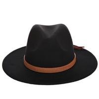 Sombrero de ala ancha Otoño Invierno Sombrero de sol Mujeres Hombres  Sombrero de Fedora Sombrero clásico 5011dfe7a8a
