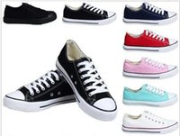 2018 NOUVELLE taille 35-46 Nouvelle étoile Toile Chaussures de toile Unisexe Low-Top High-Top Adulte Femmes 14 couleurs Laced Up Casual Shoes Sneaker chaussures
