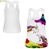 Watercolour Colorful Splash- ink Horse Women Sports Tank Tops...
