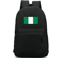 نيجيريا العلم على ظهره حزمة يوم بارد البلاد الخضراء حقيبة بيضاء راية المدرسة عارضة حقيبة packsack جيد الرياضة المدرسية Daypack حقيبة في الهواء الطلق