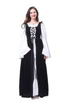르네상스 중세 아이랜드 옷 입히기 복장 Boho Chemise 세트 옥토버 페스트 의상