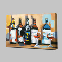 Wine bottles Mintura Oil Painting with 100% hand painted on ...
