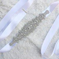 2019 nouveau luxe strass cristaux de cristaux de mariage robe de mariée Courroie 100% fabriquée à la main meilleure vente de maillots de mariée pour la fête de bal 10 couleurs