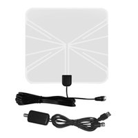 Freeshipping Simple Fashion HDTV Amplificata Antenna TV digitale interna con High Gain HDTV 50 Miglia Campo di ricezione Uso domestico