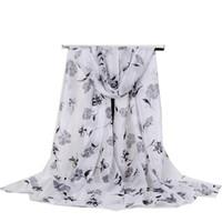 nuovo 2018 160 * 50 di modo delle nuove donne Florial stampa Georgette lungo Wrap Scialle spiaggia di seta sciarpa gradiente colore All'ingrosso della fabbrica