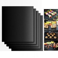 BBQ Accessories Grill Mat Set Of 2 Pack Non Stick Pad for Ga...