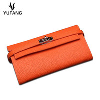 YUFANG Twelve Card Case Soft Leather Mini Long Clutch Purse ...