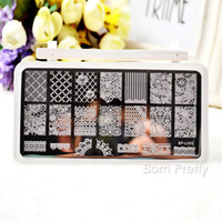 BORN PRETTY 1Pc Flower Pattern Nail Stamping Plates Lace Nail Art Stamp Image Template Manicure Stencils Decoration BP-L020