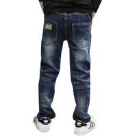 Kinder Jungen Jeans Neuheiten 2018 Herbst Elastische Taille Gerade Kinderhose Beiläufige Dünne Kinder Feste Hosen Kleidung