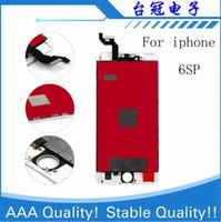 Para el iPhone 6sp 6S Plus LCD con pantalla táctil de la fuerza del digitizador de la pantalla 3D Force No Pixel muerto Envío libre