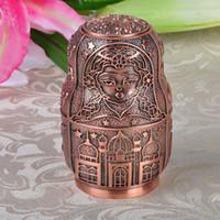 Russo Classic Matryoshka automatico Portastuzzicadenti Metal Box Arte Artigianato Vintage decorazione domestica regalo creativo ornamenti