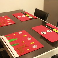 45*33CM Red Elk Printed Table Pads Non- woven Table Cloth for...