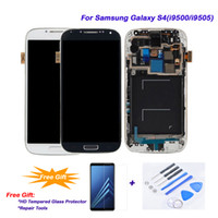 Dla Samsung Galaxy S4 / I9505 / I9500 LCD 100% pracy, ekran dotykowy LCD Wyświetlacz Digitizer Montaż + Rama dla Samsung Galaxy S4 / I9500