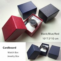 Wholesale Black Carboard Watch Box Rectangle Storage Box Fas...