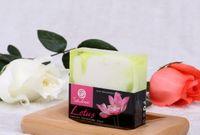 صابون زيت اللوتس التايلاندي صابون اليدوي صابون بالفاكهة قناع طبيعي لتطهير الزيت الأبيض الصابون a386