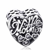 Mothers Day Gift Mother Son Bond Charms Beads Fit Charm Bracciali 925 Sterling Silver Heart Beads per gioielli fai da te Accessori