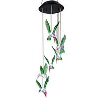 Humming Bird solaire LED lumière solaire Lighted Jardin Led extérieur Lumière Jardin Chemin Décoration Vent Lampe Chime Blanc