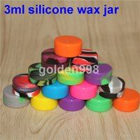 Contenants de cire antiadhésifs en silicone Boîte de pots colorés 3 ml, 5 ml, 7 ml