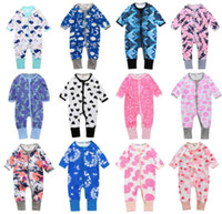 100% Cotton Spring Baby Long Sleeve Rompers Top Quality Prin...