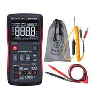 Compteur électrique ZOYI Multimètre numérique ZT-X 9999Counts Mètre à trois affichages haute définition avec barre analogique