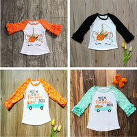 2018 Halloween Girls Clothing Fall Long Sleeve T- shirts Kids...