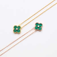 Luxury Necklaces 18k Clover necklace green gemstone pendant ...