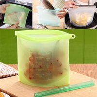 Reusable Silicone Food Preservation Bag Airtight Seal Food S...