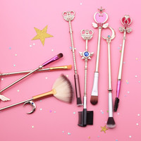 Sailor Moon Pennello cosmetico Strass Pennelli trucco Set strumenti Viso Occhi Pennello bellezza Anime Bacchetta magica