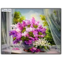 MOONCRESIN Diy Diamond Painting Cross Stitch Lilac Lilac Flo...
