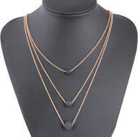 Мода многослойные черный лавовый камень кулон ожерелье ароматерапия эфирное масло диффузор Ожерелье для женщин партии свадебные украшения подарок