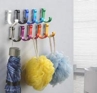 جديد الفضاء الألومنيوم كاندي اللون الإبداعية السنانير القضبان تخزين المنزل معطف هوك جودة عالية مظلة باب الملابس الصلبة هوك بالجملة